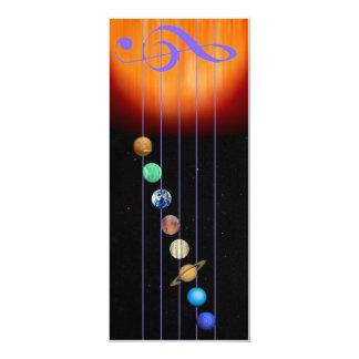 Glowees invitiation 4 x 9.5 - Music of the Spheres 10 Cm X 24 Cm Invitation Card