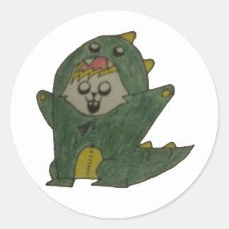 Glowie Dino Classic Round Sticker