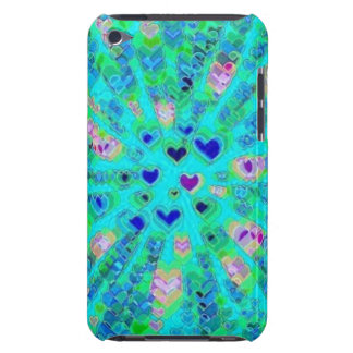 Glowing 3D Hearts iPod Touch Cover