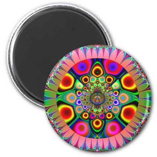 Glowing 6 Cm Round Magnet