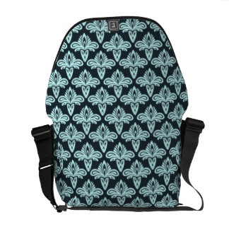 Glowing abstract pattern messenger bags