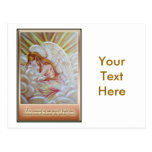 Glowing Angel and Quote Post Card