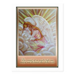 Glowing Angel and Quote Postcard