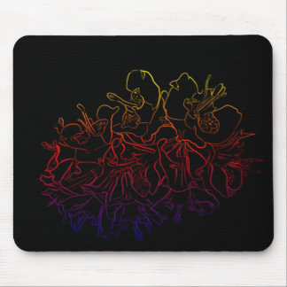 Glowing Astromelias Mouse Pad
