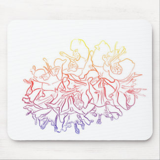 Glowing Astromelias Mouse Pads