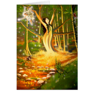 Glowing at the Faerie Ring - Greeting card by Neil