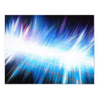 Glowing Audio Waveform 11 Cm X 14 Cm Invitation Card