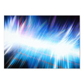 Glowing Audio Waveform 9 Cm X 13 Cm Invitation Card
