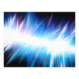 Glowing Audio Waveform Custom Flyer