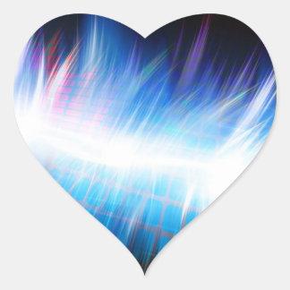 Glowing Audio Waveform Heart Sticker