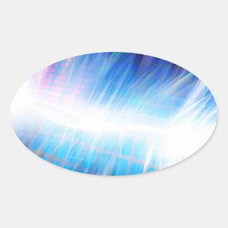 Glowing Audio Waveform Oval Sticker