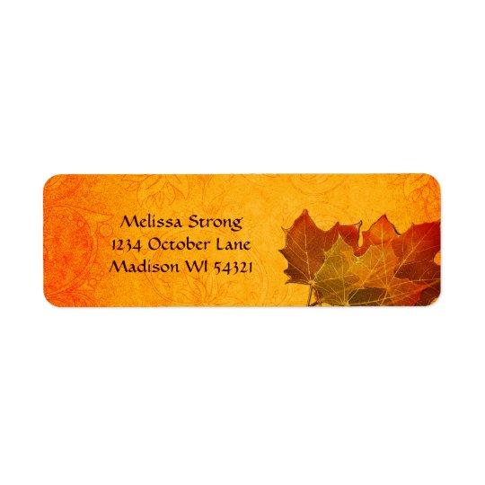 Glowing Autumn Leaves in Orange Custom