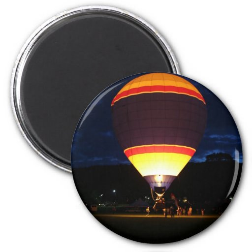 Glowing balloon, ufo fridge magnet