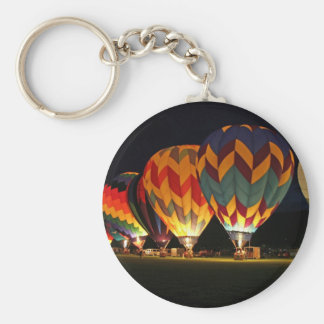 Glowing Balloons!  Light up the night! Basic Round Button Key Ring