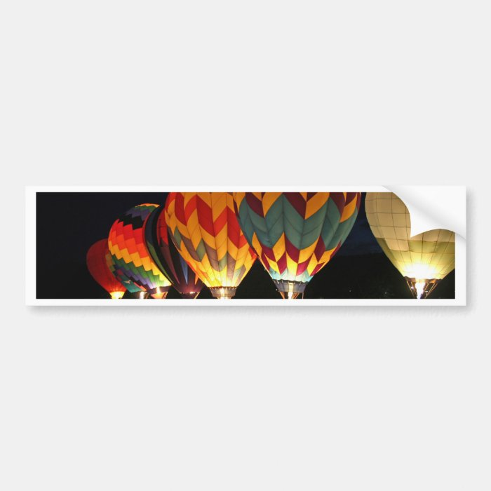 Glowing Balloons!  Light up the night! Bumper Sticker