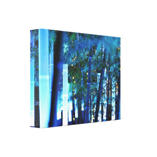 Glowing Bamboo in Tokyo, Japan Canvas Print