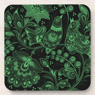 Glowing Birds Hohloma Coaster