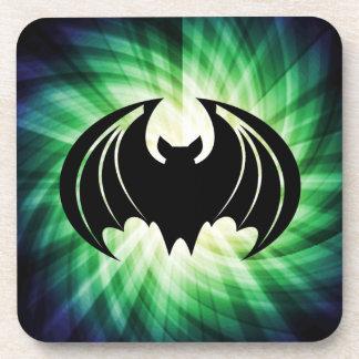 Glowing Black Bat; Halloween Coaster