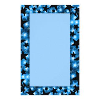 Glowing Blue Stars Stationery