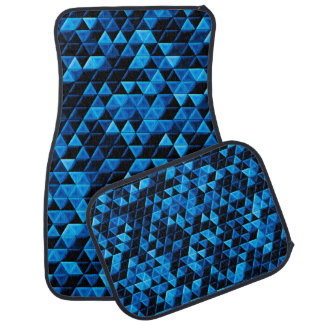 Glowing Blue Tiles Car Mat
