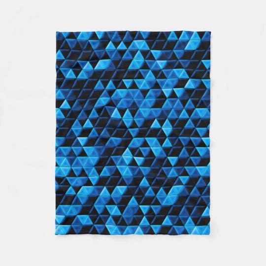 Glowing Blue Tiles Fleece Blanket
