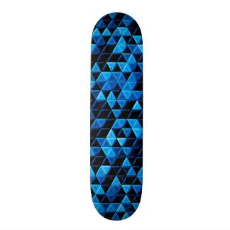 Glowing Blue Tiles Skate Board Decks