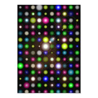 Glowing Bubbles 5x7 Paper Invitation Card