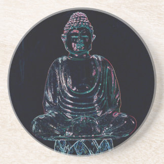 Glowing Buddha Beverage Coasters