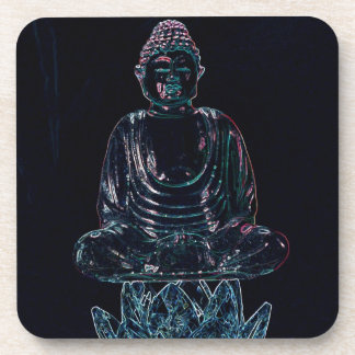 Glowing Buddha Drink Coaster