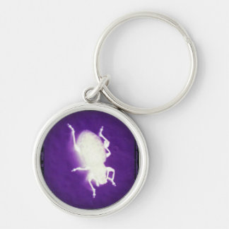 glowing bug with purple and black key ring
