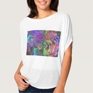 Glowing Burst of Color, Abstract Teal Violet Deva T-Shirt