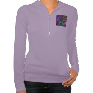 Glowing Burst of Color, Abstract Teal Violet Deva T Shirts