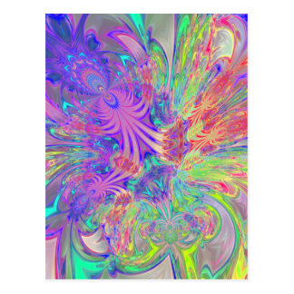 Glowing Burst of Color Post Cards