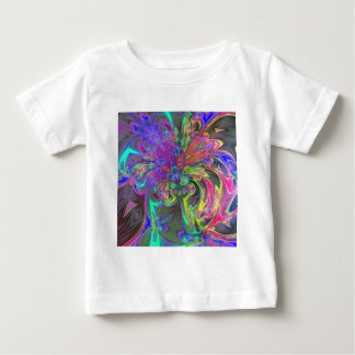 Glowing Burst of Color – Teal & Violet Deva Baby T-Shirt