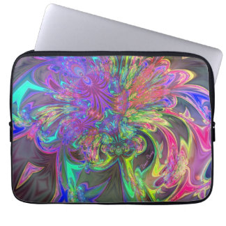 Glowing Burst of Color – Teal & Violet Deva Computer Sleeves