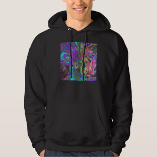 Glowing Burst of Color – Teal & Violet Deva Hoodie