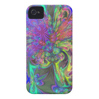 Glowing Burst of Color – Teal & Violet Deva iPhone 4 Cases