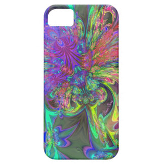 Glowing Burst of Color – Teal & Violet Deva iPhone 5 Cases