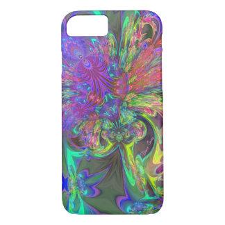 Glowing Burst of Color – Teal & Violet Deva iPhone 7 Case