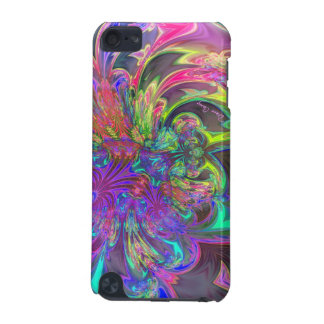 Glowing Burst of Color – Teal & Violet Deva iPod Touch (5th Generation) Case