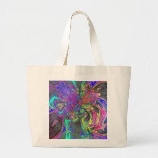 Glowing Burst of Color – Teal & Violet Deva Jumbo Tote Bag