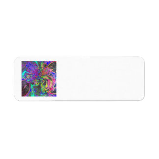 Glowing Burst of Color – Teal & Violet Deva Return Address Label