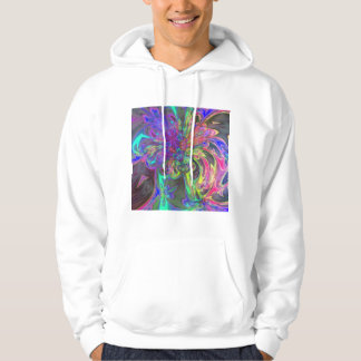 Glowing Burst of Color – Teal & Violet Deva Sweatshirt