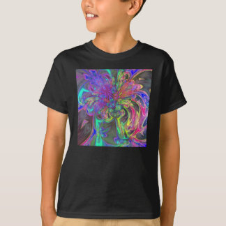 Glowing Burst of Color – Teal & Violet Deva T-Shirt