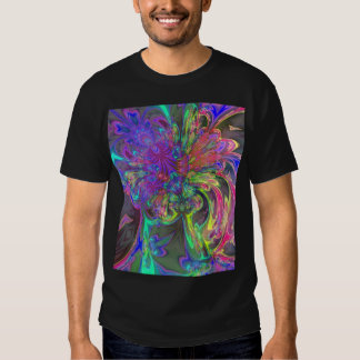 Glowing Burst of Color – Teal & Violet Deva Tee Shirt