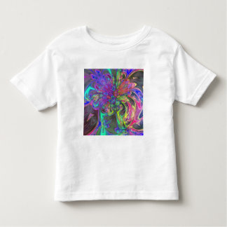 Glowing Burst of Color – Teal & Violet Deva Toddler T-Shirt