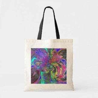 Glowing Burst of Colour – Teal & Violet Deva Budget Tote Bag