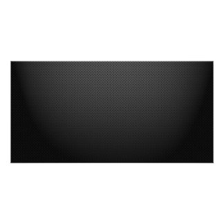 GLOWING CARBON BLACK GRAY DOTS DARK PATTERN PERSONALIZED PHOTO CARD