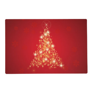 Glowing Christmas Tree - Laminated Placemat