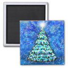Glowing Christmas Tree Magnet